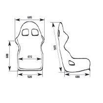 OMP WRC-R XL sedež