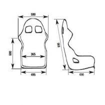 OMP WRC-R CARBON sedež
