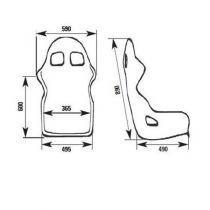 OMP WRC-R CARBON seat